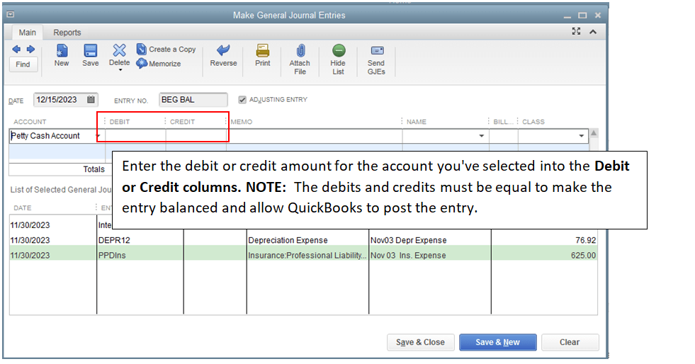 How to Make General Journal Entries in QuickBooks Desktop